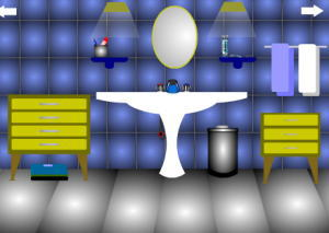 Escape_blue_bathroom